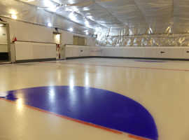 Lean to Skate play hockey on REAL ICE PAD