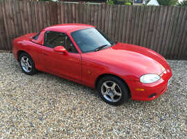 Mazda MX-5, 2003 (53) Red Convertible, Manual Petrol, 99,960 miles