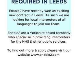 Freelance Interpreters Required in Leeds - ALL Languages