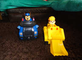 Paw patrol rubble and chase lego trucks