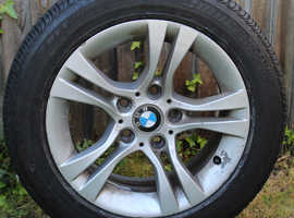 Genuine Used BMW Alloy wheel and runflat tyre.