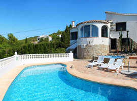 Holiday in the sun: Quiet Mediterranean Villa with fantastic view, Costa Blanca, private Pool