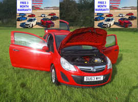 Vauxhall Corsa, 2013 (63) Red Hatchback, Manual Petrol, 123,000 miles