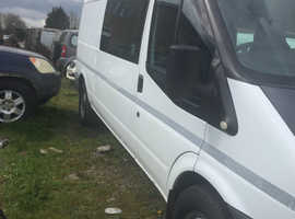Ford transit crew cab. 5 seater microwave h/c  ideal camper conversion water