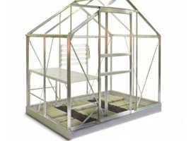 Greenhouse 6x4 with Steel Base Plinth - BRAND NEW