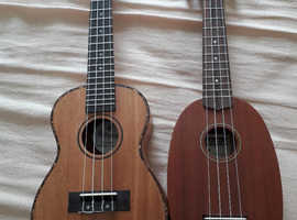 Two very nice ukuleles for sale.