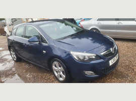 Vauxhall Astra, 2011 (11) Blue Hatchback, Automatic Diesel, 107,000 miles