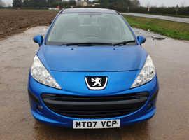 Peugeot 207, 2007 (07) Blue Hatchback, Manual Petrol, 96,000 miles