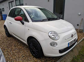 Fiat 500, 2013 (13) White Hatchback, Manual Petrol, 42,000 miles