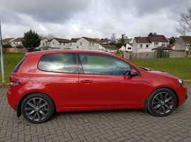 FOR SALE  Volkswagen Golf, 2.0 GT TDI, 3 door, 2010 (10), Red Metallic, 59000 miles, MOT March 2020