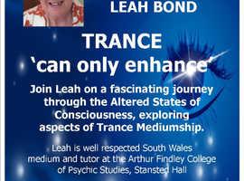 Arthur Findlay college tutor ..Leah Bond (SNU) workshop 'enhance your Trance'