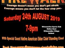Charity Firewalk In Aid of Woman Aid Leicestershire