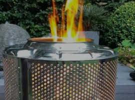 Washer drum firepit/planter