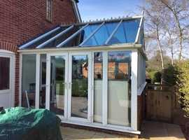 5M x 4M White Conservatory For Sale.