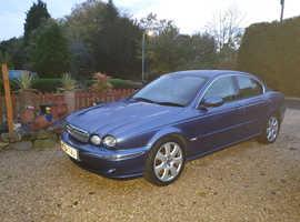 Jaguar X-TYPE, 2004 (54) Blue Saloon, Manual Diesel, 135000 miles