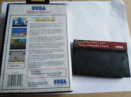 Donald Duck Sega Master System game in box
