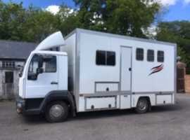 Smart, Strong, Well maintained 2/3 horse 7.5 tonne horsebox