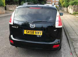 Mazda MAZDA 5, 2008 (58) Black MPV, Manual Diesel, 119,000 miles