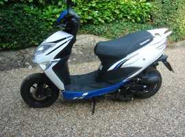 Lexmoto Longjia 50cc Echo blue/white scooter 2016 .
