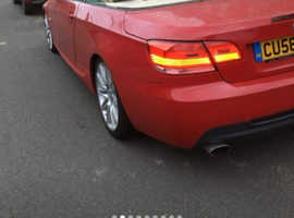 BMW 3 Series, 2008 (58) Red Convertible, Manual Diesel, 76,000 miles