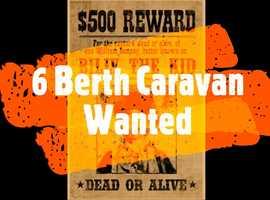 6 Berth Caravan Wanted, Ideally Bailey Senator Carolina Series 6 or similar, Cash Waiting