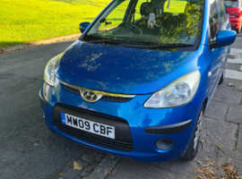 Hyundai i10, 2009 (09) Blue Hatchback, Manual Petrol, 60,850 miles