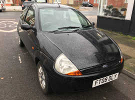 Ford Ka, 2008 (08) Black Hatchback, Manual Petrol, 86,706 miles