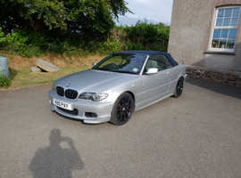 BMW 3 Series, 2004 (04) Silver Convertible, Automatic Petrol, 106,000 miles