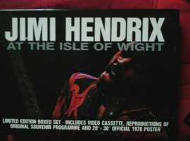 VHS Jimi Hendrix at the Isle of wight 1970 boxed set