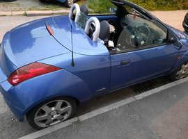 Ford StreetKa, 2006 (55) Blue Convertible, Manual Petrol, 79,000 miles