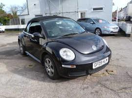 Volkswagen Beetle, 2009 (09) Black Convertible, Manual Petrol, 108,000 miles