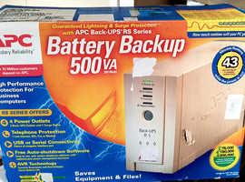 Brand new APC RS500VA uninterruptable power supply