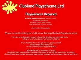 Breakfast and ater school playworkers required