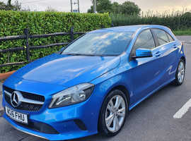 Mercedes A-CLASS, 2016 (16) Blue Hatchback, Manual Diesel, 62,800 miles