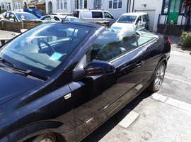 Vauxhall Astra, 2009 (59) Black Convertible, Manual Petrol, 65,629 miles