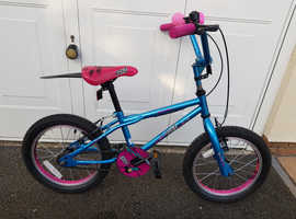 Girls Pink and Blue Roxy bicycle  for  sale