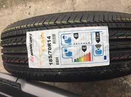 touring caravan wheel with tyre.
