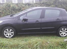 Peugeot 308, 2011 (61) Black Hatchback, Manual Diesel, 109,900 miles