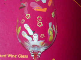 Beautiful hand painted Lolita wine glasses