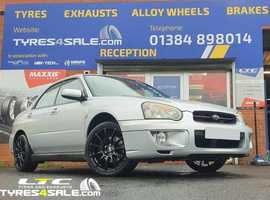 Bola VST 17 Alloy Wheels fitted to Subaru Impreza and Maxxis Tyres