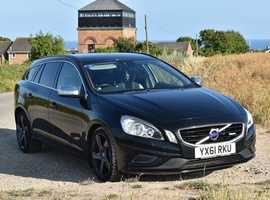 Volvo V60, 2011 (61) black estate, Automatic Diesel, 77,500 miles