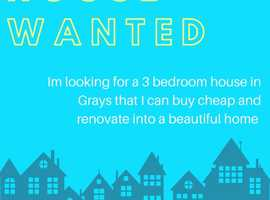 3 Bed Semi detached House wanted in Grays