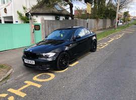 BMW 1 series, 2008 (58) Black Coupe, Manual Diesel, 180,000 miles