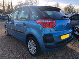 Citroen C4, 2008 (08) Blue MPV, Manual Petrol, 86,200 miles