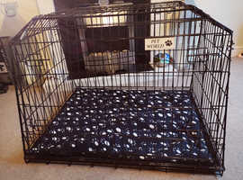 """PET WORLD ESTATE 4x4 38"""" SLOPED CAR DOG CAGE TRAVEL CRATE PUPPY BOOT GUARD CAGES"""