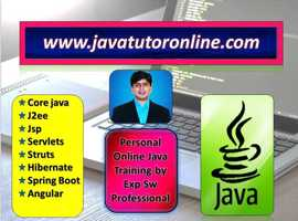 Online Java Tutor, Training by 15 yrs Exp Sw Pro- Private 1 to 1 Training