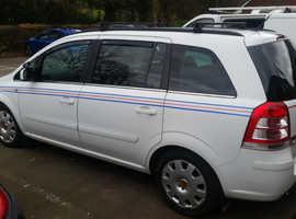 Vauxhall Zafira, 2011 (11) white mpv, Manual Diesel, 191,895 miles