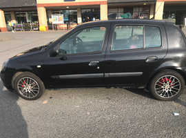 Renault CLIO EXPRESSION+ 16V, 2004 (54) black hatchback, Manual Petrol, 119000 miles