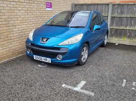 Peugeot 207, 2006 (06) Blue Hatchback, Manual Petrol, 80,995 miles
