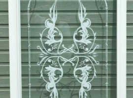 Glass Shower Door & White Frame